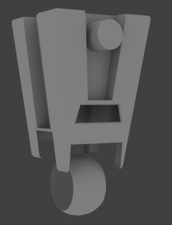 Pleasant Claptrap Robot Model In Blender Process Journal Rocz3D Studio Evergreenethics Interior Chair Design Evergreenethicsorg