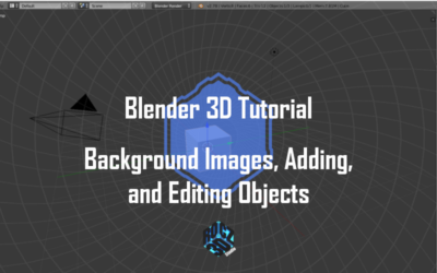 Blender 3D Modeling Basics Pt 1: Background Images, Adding and Editing Objects