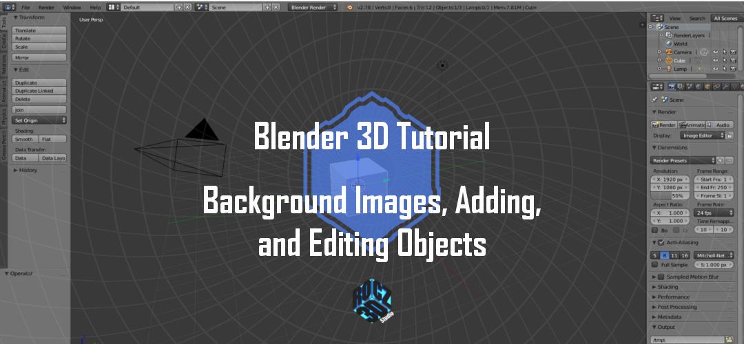 Blender 3D Modeling Basics Pt 1: Background Images, Adding ...