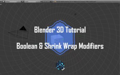 Blender 3D Modeling Basics Pt 6: Boolean and Shrink Wrap Modifiers