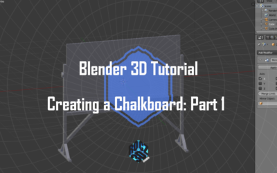 Creating a Chalkboard in Blender 3D: Part 1
