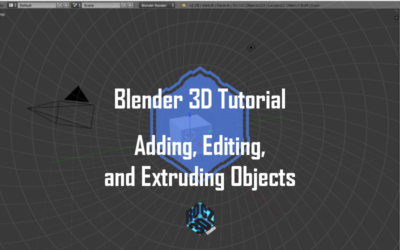 Blender 3D Modeling Basics Pt 2: Adding, Editing and Extruding Objects