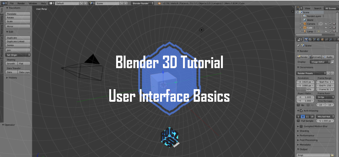 Blender 3D User Interface Basics