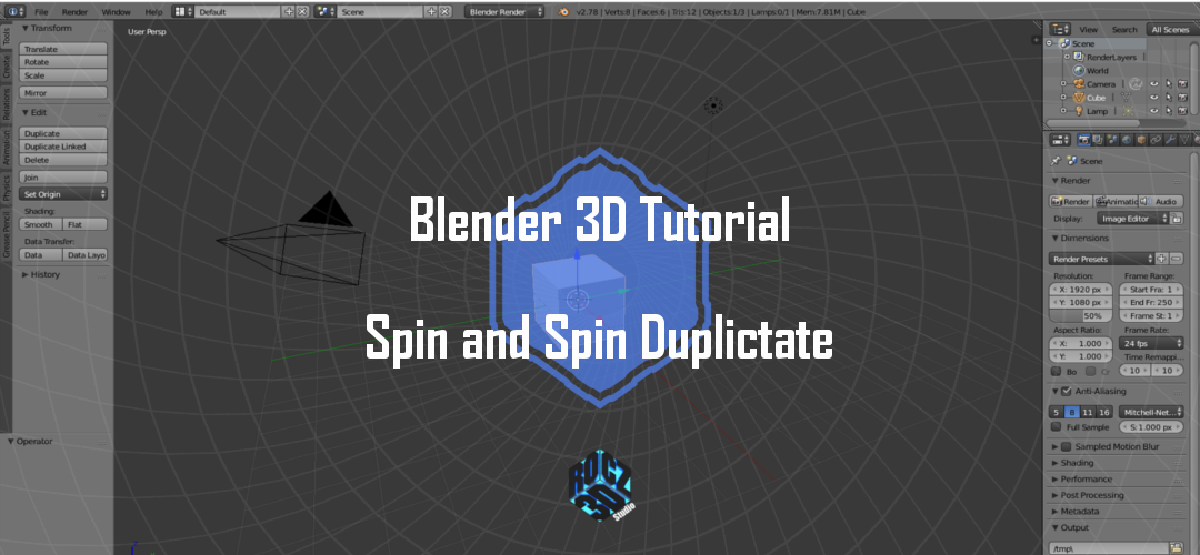 Blender 3D Modeling Basics Part 4: Spin and Spin Duplicate
