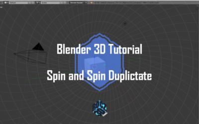Blender 3D Modeling Basics Part 4: Spin and Spin Duplicate