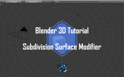 Blender 3D Modeling Basics Pt 7: Subdivision Surface Modifier