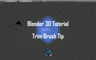 """Blender 3D """"Trim"""" Brush Tip"""