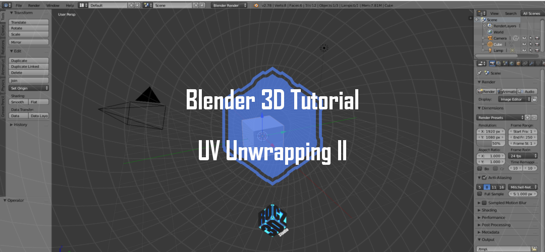 Blender 3D Modeling Basics Pt 11: UV Unwrapping II