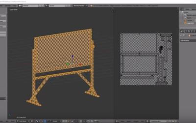 Modeling a Chalkboard in Blender 3D–Part 2: UV Unwrap