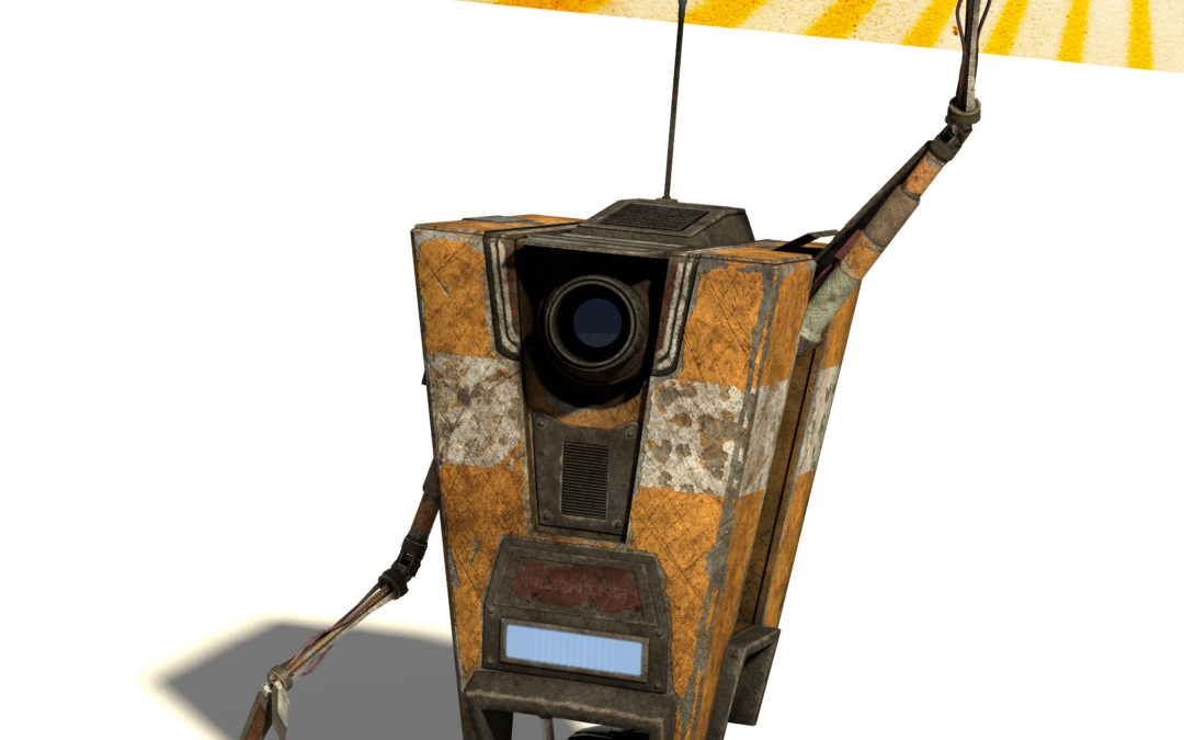 Claptrap Robot Model in Blender: Process Journal