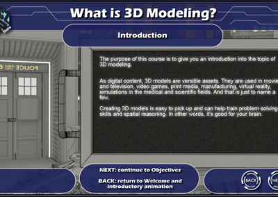 What is 3D Modeling: E-Learning Course