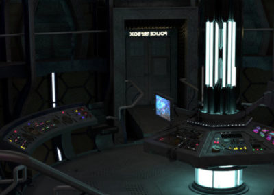 TARDIS Control Room Blender Model: Process Journal