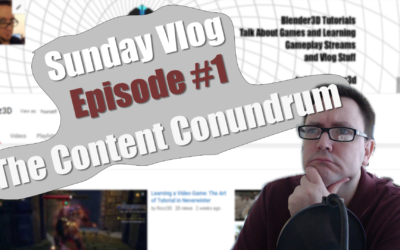 Sunday Vlog Ep. 1: The Content Conundrum